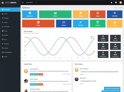 Matrix Admin Template - Most Advanced Dashboard Kit of All Time