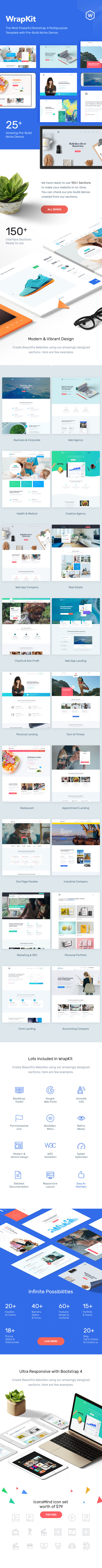 WrapKit - Bootstrap 4 Multipurpose Template - 2
