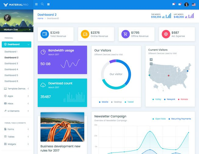 MaterialPro Bootstrap 4 Admin Template | Bootstrap Material